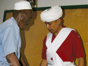 Obama in Kenyan traditional dress
