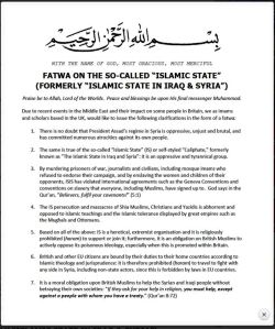 Fatwa against ISIS